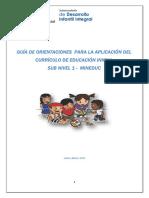 Guía de Orientaciones Aplicación Curriculo -CDI Marzo 2015 (2) - Copia