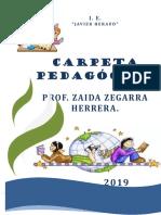 caratula carpeta pedagogica