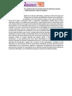 Procedimiento de Limpieza y Desinfeccion de Areas y Equipos