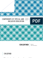 Components of Special and Inclusive Education