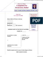 Free Legal Form - Complaint for Declaratory Relief