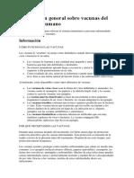 información General Sobre Vacunas Del Papiloma Humano