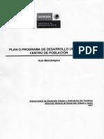 Plan de desarrollo urbano de centro de poblacion