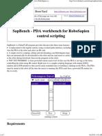 [AiboHack - Boneyard] SapBench - PDA Workbench for RoboSapien Control Scripting