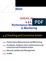 OHSAS 18001, 4.5.1 Performance Measurement & Monitoring