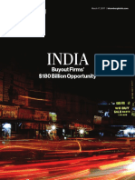 India Buyout Firms $180 Billion Opportunity