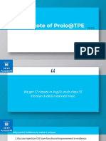 Quick Note of Prolo@TPE 2019