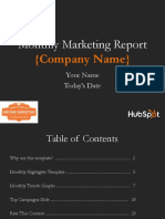 Monthly Marketing Reporting Template CAMPAIGN CAMPAIGN