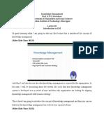 Knowlddge management