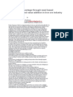 Competitive Advantage Through Need Based Segmentation and Value Addition in Iron Ore Industry