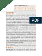 Resolución Directoral Nº 0047-2007-ED