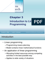Chapter Introduction to Linear Programming