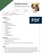 Crock Pot Blueberry Breakfast Casserole - Recipes That Crock!