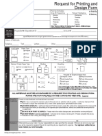 Request for Printing and Design Form