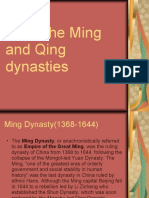 Ming and Qing Dynasties(Adrian's report)