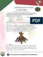 Especialidad Desarrollada de Fogatas y Cocina Al Aire Arnold Espinoza