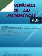 Enseñanza de las matemáticas