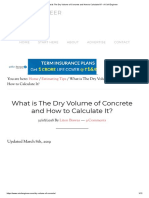 What is the Dry Volume of Concrete and How to Calculate