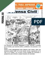 Ficha de Defensa Civil Para Segundo de Primaria