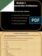 Module 1_8051 Microcontroller Architecture