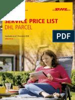 Dhl Parcel Standard Price List