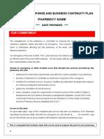 Pharmacy Emergency Response Plan Template