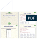 Data Management and Statistical Analysis - Generating Randomization Layout