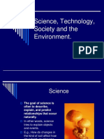 Science Technology Society and the Environment