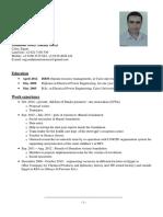 CV of Mahmoud Morsey
