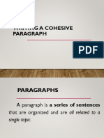 Writing a Cohesive Paragraph