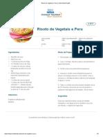 Risoto de Vegetais e Peru _ Clube Bebé Nestlé