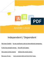 Adverb Clause Hand-out