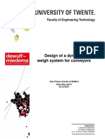 Design of a Dynamic Weigh System for Conveyors