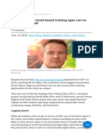 The Benefits of Cloud-based Training Apps Can No Longer Be Ignored