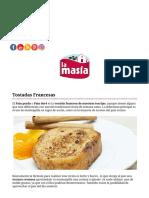 Recetas _ Tostadas Francesas