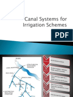 Cannal Systems for Irrigation