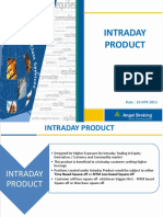 Intraday Product Note