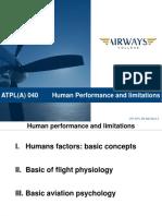 ATPL Human Performance