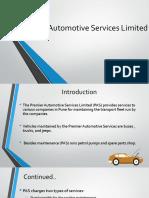 Premier Automotive Services Limited