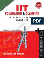IIT-Foundation Class 9 Maths Sample