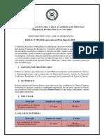 Modelo de Edital para Liga Acadêmica