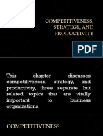 Competitiveness Strategy and Productivity