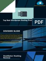 Top Best Wordpress Hosting Providers Review