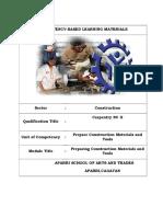 Cblm Common Prepare Construction Materials