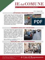 Notizie Dal Comune di Borgomanero del 9 Agosto 2019