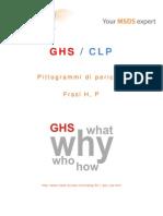 GHS_CLP - Pittogrammi di pericolo, Frasi H, P