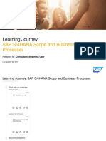 SAP S/4HANA Scope and Business Processes