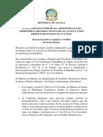 Decreto Executivo Conjunto - RELIGIOS
