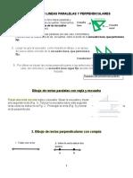 Como Trazar Rectas Paralelas y Perpendiculares. (1)
