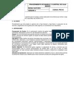 Pro-03- Procedimiento de Manejo y Control de Caja Menor